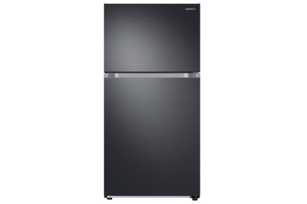 Large image of Samsung 21 Cu. Ft. Fingerprint Resistant Black Stainless Steel Top Freezer Refrigerator With FlexZone And Ice Maker - RT21M6215SG/AA