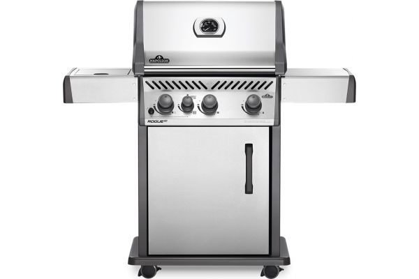 Large image of Napoleon Rogue XT 425 SIB Series Stainless Steel Propane Freestanding Grill - RXT425SIBPSS-1