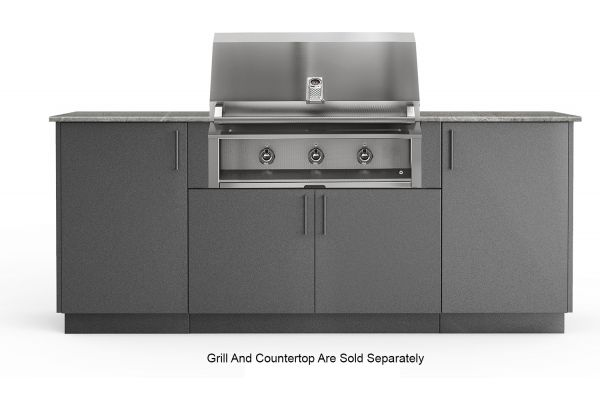 """Large image of Urban Bonfire Sierra 36"""" Anthracite Grill Cabinet - S-SIERRA36-ANTH"""