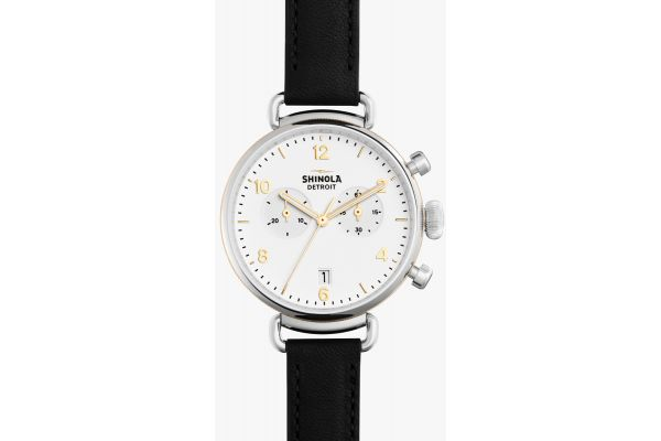 Shinola The Canfield Chrono 38mm Stainless Steel Mens Watch - S0120001930