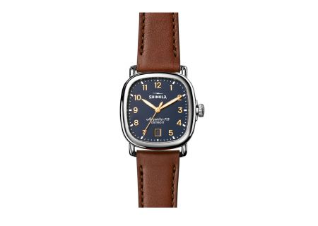 Shinola The Guardian 36mm Dark Cognac Leather Strap Mens Watch - S0120029579