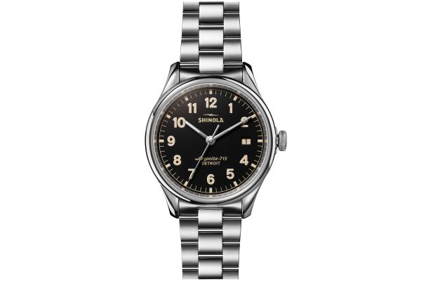 Large image of Shinola The Vinton 38mm Black Dial Womens Watch - S0120141278