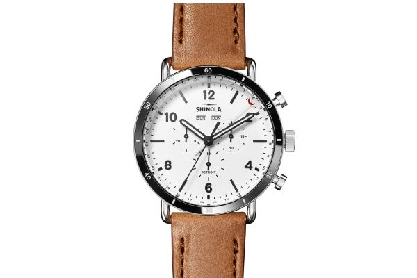 Large image of Shinola The Canfield Sport 45mm White Dial Mens Watch - S0120141501