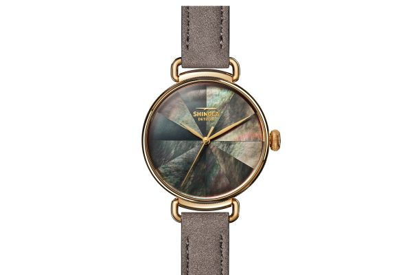 Large image of Shinola The Canfield 38mm Gray Mosaic Mother Of Pearl Dial Womens Watch - S0120161954