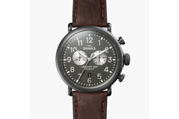 Large image of Shinola The Runwell 47mm Gray Dial Mens Watch - S0120196379