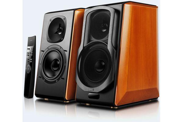 Edifier Cherry Powered Bluetooth Bookshelf Speakers (Pair) - S2000PRO