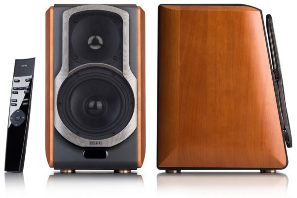 Large image of Edifier Cherry Powered Bluetooth Bookshelf Speakers (Pair) - S2000PRO