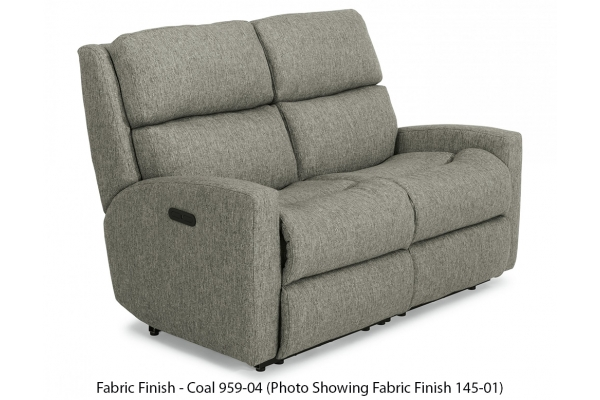 Large image of Flexsteel Catalina Fabric Power Reclining Loveseat With Power Headrests - S2900-60H-959-04