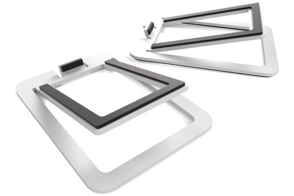 Large image of Kanto S2 White Desktop Speaker Stands (Pair) - S2W