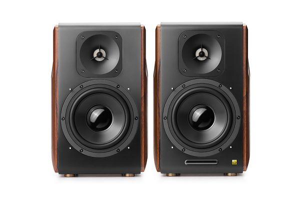 Large image of Edifier Walnut Powered Bluetooth Bookshelf Speakers (Pair) - S3000PRO