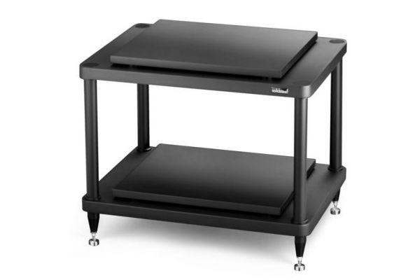 Large image of Solidsteel Black S5 Series 2 Shelf Audio Rack - S5-2BK