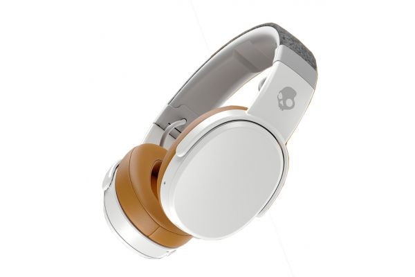 Large image of Skullcandy Crusher Grey & Tan Wireless Immersive Bass Headphones - S6CRW-K590
