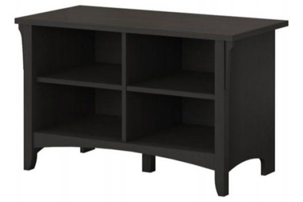 Large image of Bush Furniture Vintage Black Salinas Shoe Storage Bench - SAS232VB-03