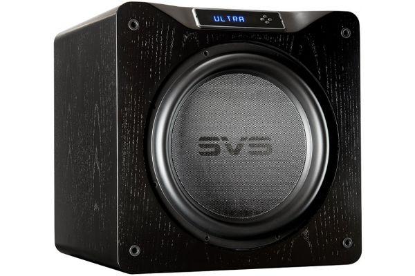 """Large image of SVS 16"""" Ultra Series Black Oak Veneer Subwoofer - SB16-ULTRA-BLACK-OAK"""