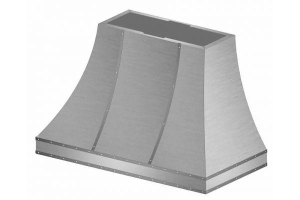 "Large image of BlueStar 36"" Stainless Steel Sahara Curved Sides Wall Hood - SCO36MLPLT"