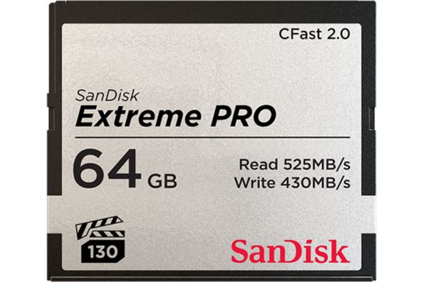 Large image of Sandisk Extreme Pro CFAST 2.0 64 GB Memory Card - SDCFSP-064G-A46D