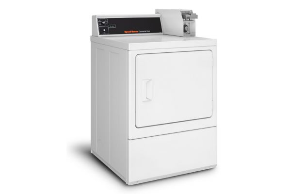 Large image of Speed Queen White Rear Control Single Electric Dryer - SDESXRGS173TW01