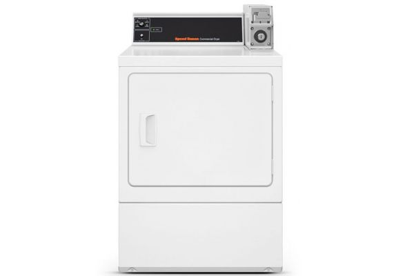 Large image of Speed Queen White Commercial Rear Control Single Gas Dryer - SDGSXRGS113TW01