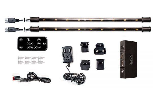 """Large image of Salamander Designs 15"""" White LED Lighting System with Remote - SD/LS2/W"""