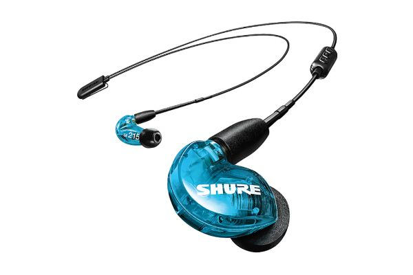 Shure SE215 Blue In-Ear Sound Isolating Bluetooth Headphones - SE215SPE-B+BT2