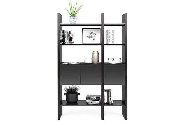 Large image of BDI Semblance 5402 Charcoal Stained Ash And Black Storage Shelf - 5402-CB CRL/B
