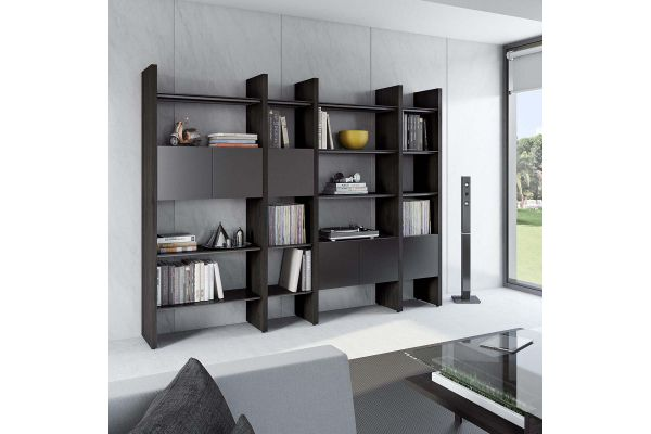 Large image of BDI Semblance 5404 Charcoal Stained Ash And Black Storage Shelf - 5404-GB CRL/B