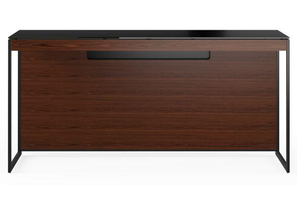 Large image of BDI Sequel 20 6102 Chocolate Walnut/Black Console Desk - 6102 CWL/B