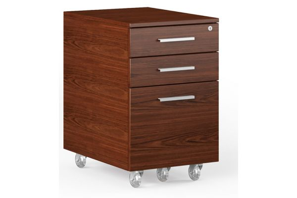 Large image of BDI Sequel 20 6107 Chocolate Stained Walnut Mobile File Cabinet - 6107 CWL