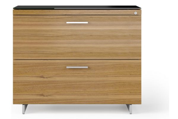 Large image of BDI Sequel 20 6116 Natural Walnut/Satin Nickel Lateral File Cabinet - 6116 WL/S