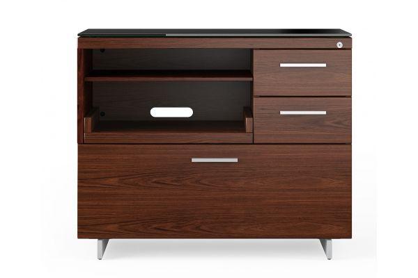 Large image of BDI Sequel 20 6117 Chocolate Walnut/Satin Nickel Multifunction Cabinet - 6117 CWL/S