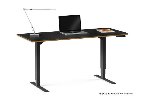 "Large image of BDI Sequel 20 6151 Natural Walnut 60"" x 24"" Lift Standing Desk - 6151 WL"