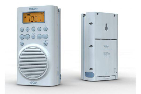 Large image of Sangean Sky Blue Waterproof Shower Radio - SG-100