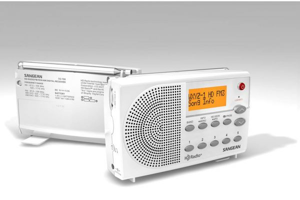Large image of Sangean White FM Stereo Digital HD Radio - SG-108