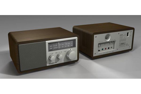 Large image of Sangean Wood Cabinet AM/FM Analog Radio - SG-116