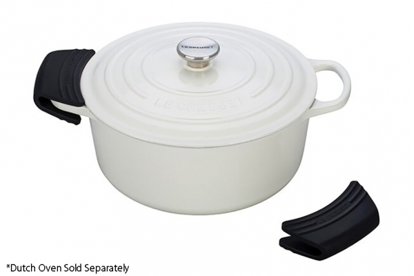Large image of Le Creuset Black Silicone Handle Grips Set - SG100-31