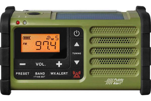 Large image of Sangean AM/FM Green Handcrank And Solar Emergency Alert Radio - SG-112