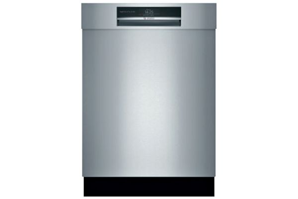 """Large image of Bosch 24"""" Benchmark Series Stainless Steel Recessed Handle Dishwasher - SHE88PZ65N"""