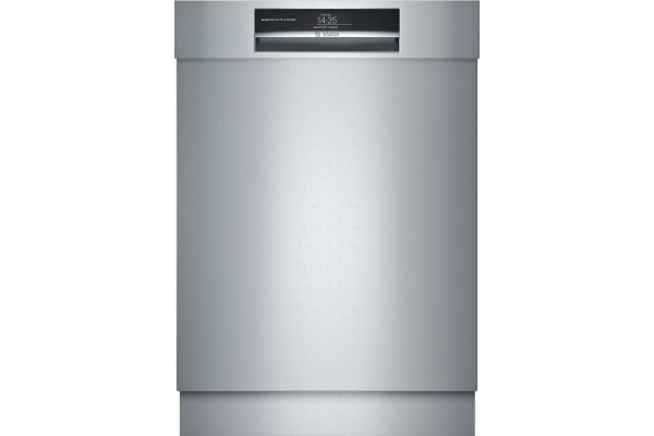 """Large image of Bosch Benchmark Series 24"""" Stainless Steel Recessed Handle Dishwasher - SHE89PW75N"""