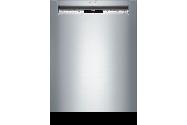 """Large image of Bosch 24"""" 800 Series Stainless Steel Recessed Handle Dishwasher - SHEM78Z55N"""