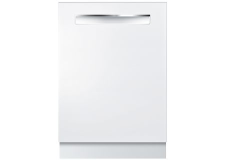"Bosch 24"" 800 Series DLX White Pocket Handle Dishwasher - SHP878WD2N"