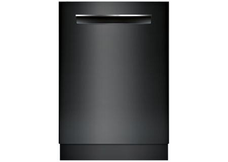 "Bosch 24"" 800 Series DLX Black Pocket Handle Dishwasher - SHP878WD6N"