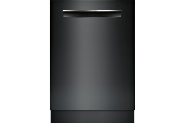"Bosch 24"" 500 Series Black Pocket Handle Dishwasher - SHPM65Z56N"