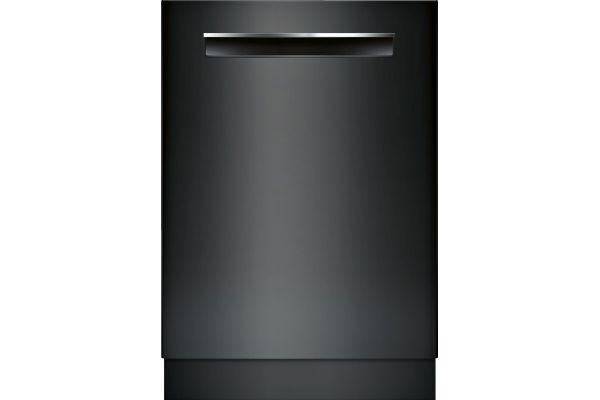 "Large image of Bosch 500 Series 24"" Black Recessed Handle Dishwasher - SHPM65Z56N"