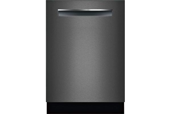 "Large image of Bosch 24"" 800 Series Black Stainless Steel Pocket Handle Dishwasher - SHPM78Z54N"