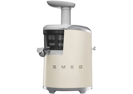 Smeg 50s Retro Style Cream Slow Juicer - SJF01CRUS