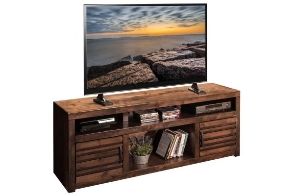"""Large image of Legends Furniture 73"""" Whiskey Sausalito TV Console - SL1214-WKY"""