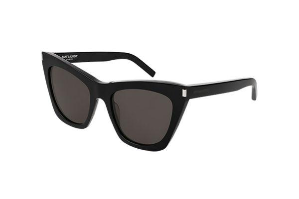 Large image of Saint Laurent Black Cat Eye Womens Sunglasses - SL 214 KATE-001 55