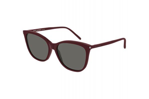 Large image of Saint Laurent Burgundy Cat Eye Womens Sunglasses - SL 305-004 55