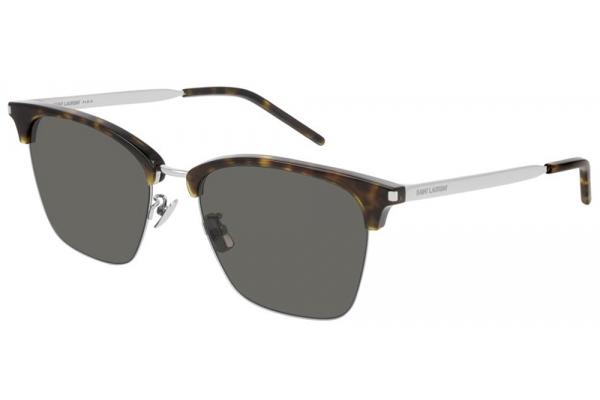 Large image of Saint Laurent Havana Aviator Unisex Sunglasses - SL340002
