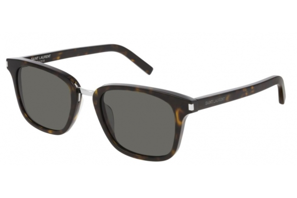 Large image of Saint Laurent Rectangular Havana Mens Sunglasses - SL341002
